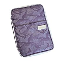 iSuperb Passport Holder Travel wallet Family Document Organizer Cash Credit ID Card Ticket Pouch Purse Bag Cover Zipper Case with Hand Strap 11x6.3inch (Purple)