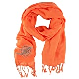 Little Earth Productions 351101-DOLP-ORNGX Miami Dolphins Pashi Fan Scarf - Orange
