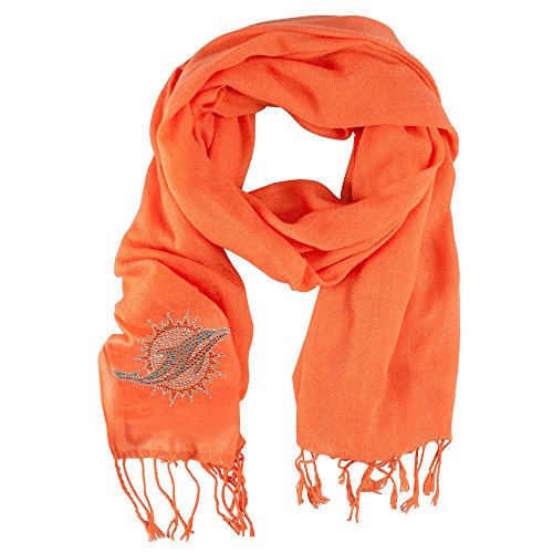 Little Earth Productions 351101-DOLP-ORNGX Miami Dolphins Pashi Fan Scarf - Orange by Pro Fan Ity