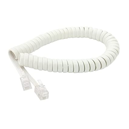 Amazon.com: Handset Cord, Telephone Handset Coiled Cable Telephone ...