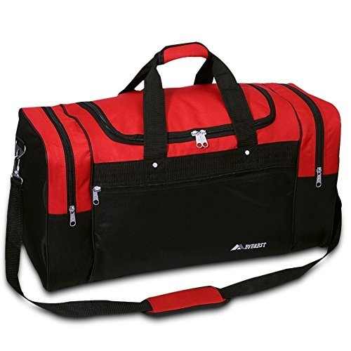 Everest Luggage Sports Travel Gear Bag (Medium, Red / Black) by Everst