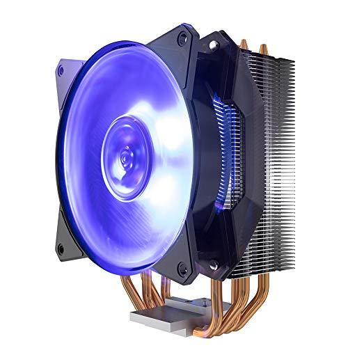 Cooler Master MasterAir MA410P RGB CPU Air Cooler, 4 CDC 2.0 Heatpipes, Aluminum Fins, MF120R RGB Fan, RGB Lighting for AMD Ryzen/Intel LGA1200/1151