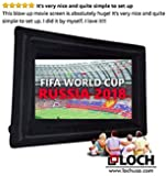 """SUPREME LOCH IWS200. Inflatable Projection Screen (24 Foot Diagonal Total View Area 200"""")-Outdoor Movies Cinema - Include Blower,Bag, Ropes, Stakes (24 Foot Diagonal Total (View Area 200"""" Diagonal)"""