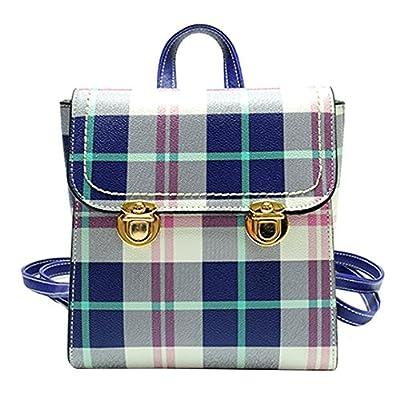 best Kennedy Fashion Girl Plaid Backpack Leather Shoulder Bag Travel Backpack Childern School Bag Handbag