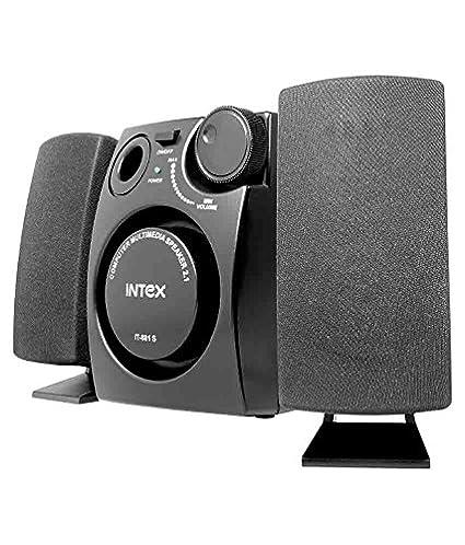 Intex IT 881S 2.1 Desktop Speakers   Black Multimedia Speaker Systems