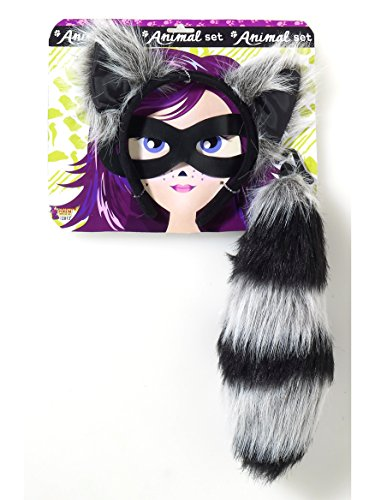 Forum Novelties Women's Playful Animals Raccoon Costume Accessory Set, Multi, One size]()