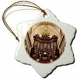 3dRose orn_136307_1 Pipe Organ in Eglise Saint Sulpice, Paris, France-Eu09 Bjn0588-Brian Jannsen-Snowflake Ornament, 3-Inch, Porcelain
