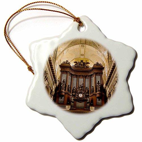 3dRose orn_136307_1 Pipe Organ in Eglise Saint Sulpice, Paris, France-Eu09 Bjn0588-Brian Jannsen-Snowflake Ornament, 3-Inch, Porcelain by 3dRose