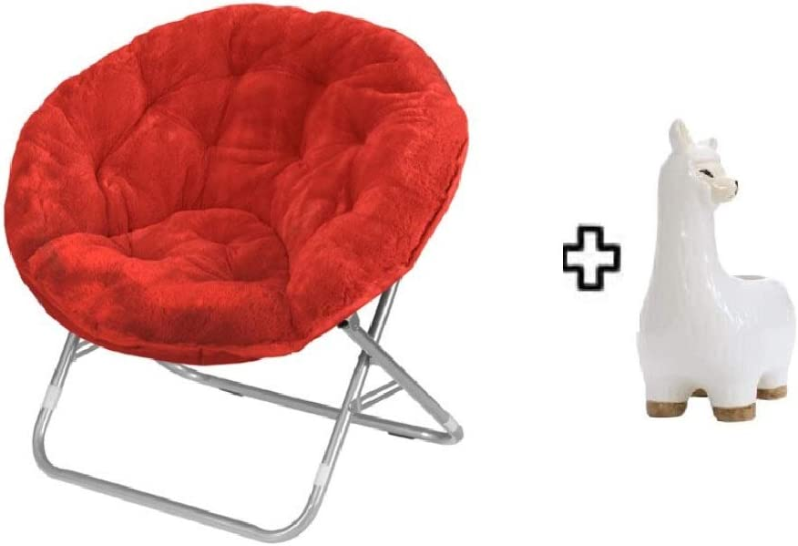 Mainstay Saucer Chair, (1, Red)