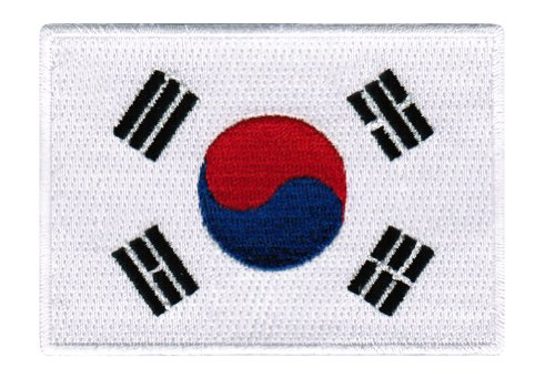 South Korea Flag Embroidered Patch Korean Iron-On National Emblem