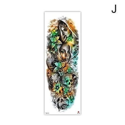 Brazo manga tatuaje bosquejo león tigre impermeable tatuaje ...
