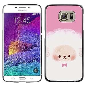 LECELL--Funda protectora / Cubierta / Piel For Samsung Galaxy S6 SM-G920 -- Puppy Cute Pink White Sheep --