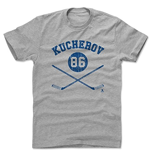 500 LEVEL Nikita Kucherov Cotton Shirt Large Heather Gray - Tampa Bay Hockey Men's Apparel - Nikita Kucherov Sticks B