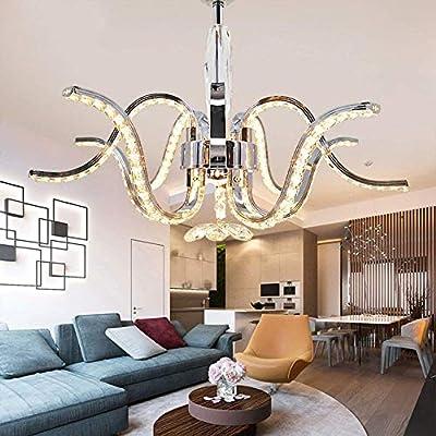 Rjj Led Chandelier Lighting Lustres De Cristal Stainless Steel
