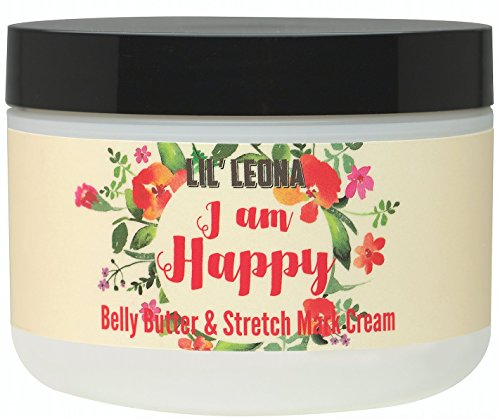 Lil Leona Pregnancy Cream For Stretch Marks: Made with Shea Butter and Vitamin E - 8 oz by I am Happy (Image #1)