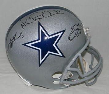 Amazon.com  Emmitt Smith Troy Aikman Michael Irvin Signed Dallas Cowboys  Triplets Helmet - PSA DNA Certified - Autographed NFL Helmets  Sports  Collectibles e8ebf6ad9