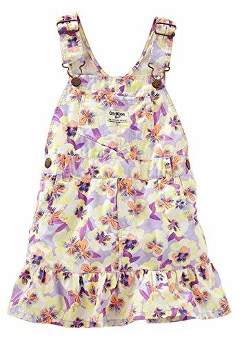 OshKosh B'gosh Toddler Girl's Floral Ruffle-Hem Twill Jumper (2T)