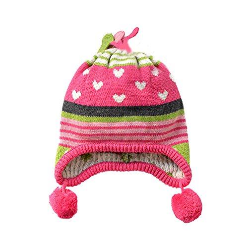Tou Baby Girl's Winter Hats Warm Crochet Hats Christmas Caps 0-10t (12-24M)