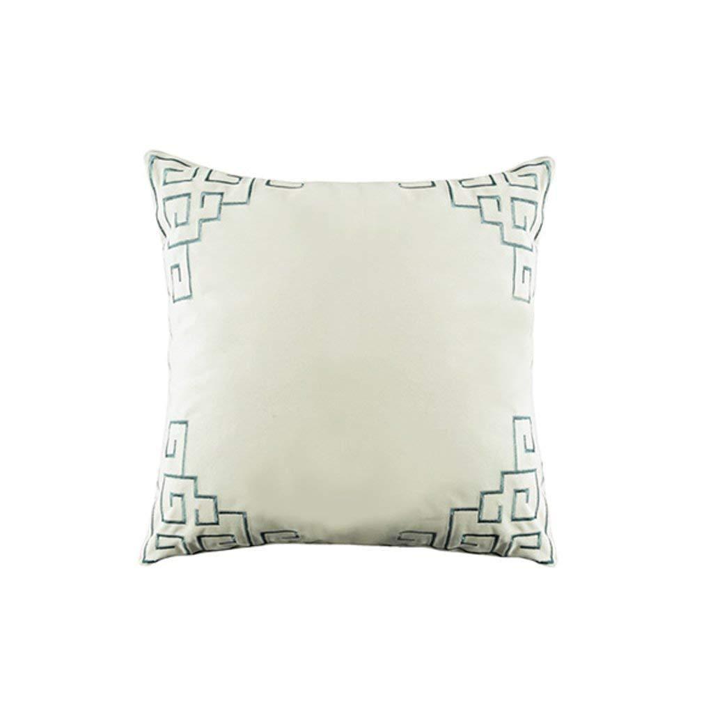 WCH ファッション枕バッククッションヨーロッパの刺繍クッションマットレス枕ソファトリムクッションスクエア枕車の枕スクエア枕 B07QMM95M9