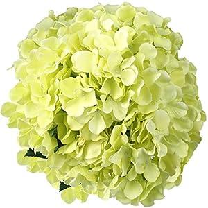 "LSD 22.8"" Artificial Silk Fake Dried Hydrangea Bush with 7 Mop Heads Flower Bunch Bouquet Home Hotel Wedding Party Garden Floral Decor Hydrangea 97"