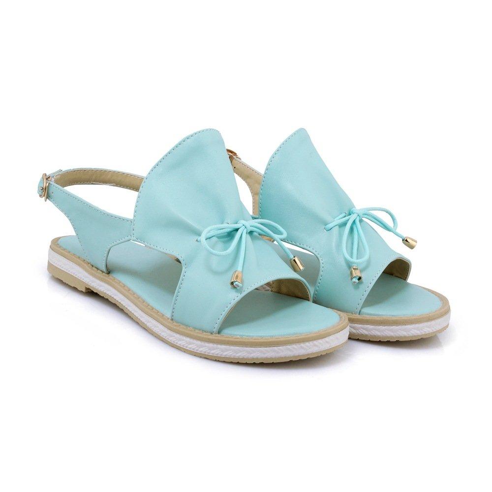 QIN&X Damens's Damens's QIN&X Casual Flachbild Heel Sandalen Light Blau 639a6a