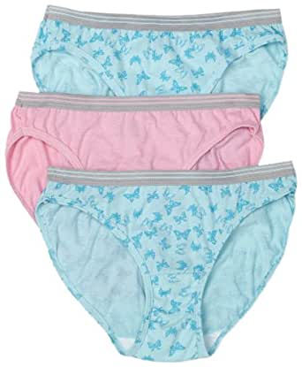 Fruit of the Loom Women's 6-Pack Heather Bikini Panties,Assorted,10