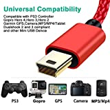 SCOVEE PS3 Controller Charging Cable 6ft,Mini USB