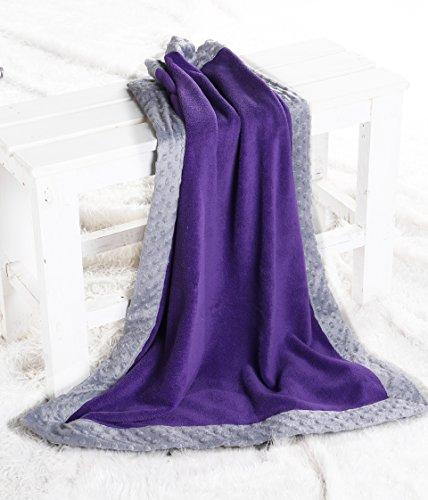 Bacati Center Border Blanket Purple product image