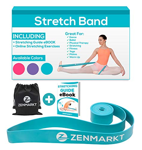 Stretching Bands for Flexibility - Elastic Stretching Band Great as Ballet Barre Dancer Gifts for Cheerleader Gifts - Improve Your Strength and Flexibility with Stretching Home Gymnastics Equipment