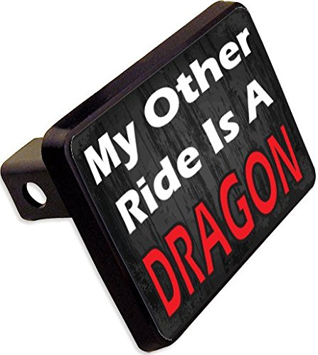 MY OTHER RIDE IS A DRAGON Trailer Hitch Cover Plug Funny Novelty