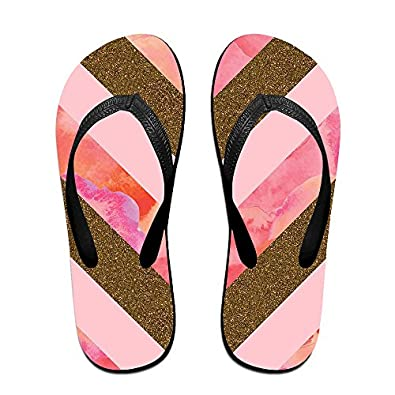 aef6671e7c6d4b good Double Happiness Summer Unisex Pink Background Classical Comfortable  Flat Home Thong Sandal
