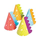 Little Dino Party Hats, 8 Count