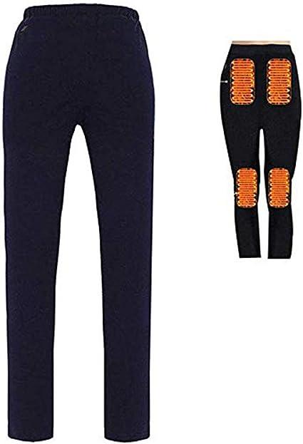 Hiver Chauffant Électrique Noir Pantalon Leggings USB Chauffage Smart Chaud Pantalon Cadeau