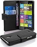 Cadorabo - Funda Nokia Lumia 1320 Book Style de Cuero Sintético en Diseño Libro - Etui Case Cover Carcasa Caja Protección con Tarjetero en NEGRO-ÓXIDO