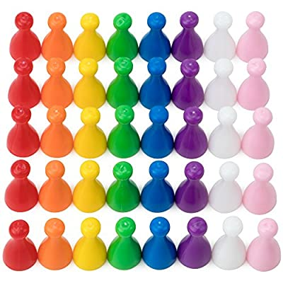 100 Assorted 25mm Halma Game Pawns in 8 Colors, About 12 Pawns Per Color by Brybelly: Toys & Games