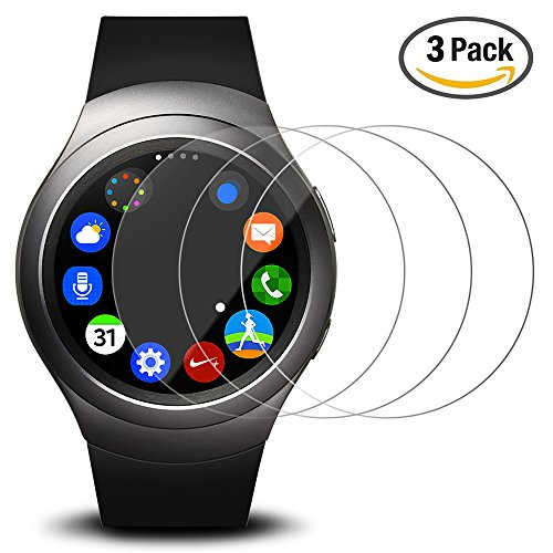 Tempered Glass Screen Protector for Samsung Gear S2 Smart Watch - 3