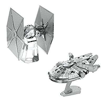 Metal Earth Fascinations Star Wars Special Forces Tie Fighter And Millennium Falcon Puzzle In Metallo 3d Giocattoli Da Costruzione Modelli Di Taglio Laser