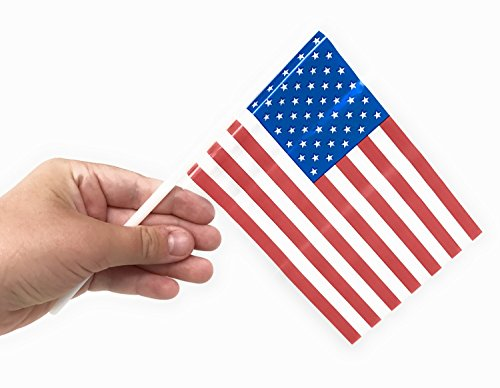 100 Bulk Value Plastic American Flags - 4
