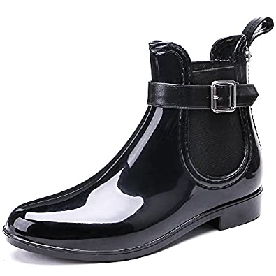 Retro Boots, Granny Boots, 70s Boots TONGPU Womens Waterproof Footwear Fashion PVC Rain Boots $32.99 AT vintagedancer.com