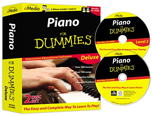 eMedia Piano For Dummies Deluxe (2 volume set) - Emedia Piano Software