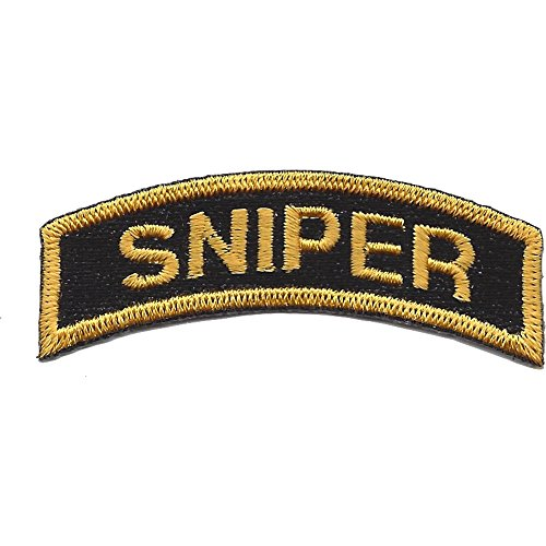 Army Special Forces Sniper - U.S. Special Forces Sniper Rocker Black With Gold Patch