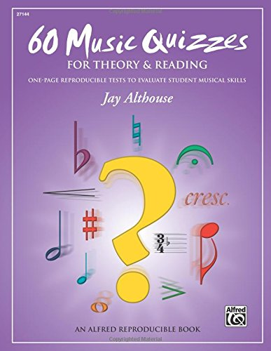 Note Book Reading (60 Music Quizzes for Theory and Reading: One-page Reproducible Tests to Evaluate Student Musical Skills, Comb Bound Book)