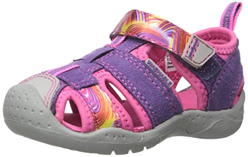pediped Flex Sahara Water Sandal (Toddler/Little Kid), Purple Swirl, 33 EU(1.5-2 E US Little Kid)