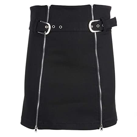 Minifaldas de cintura alta para mujer Falda vaquera Falda A Line ...
