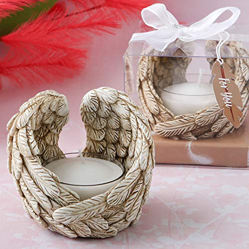 - FASHIONCRAFT Guardian Angel Wings tealight Candle Holder