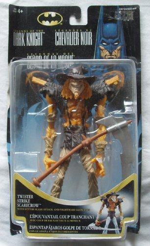 Batman 1996 Legends of the Dark Knight Premium Collector Series 7-1/2 Inch Tall Action Figure - Twister Strike Scarecrow with Scythe Slash Attack and Nightmare Glow (The Dark Knight Scarecrow)