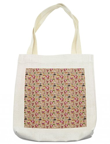 Lunarable Circus Tote Bag, Retro Festival Pattern with