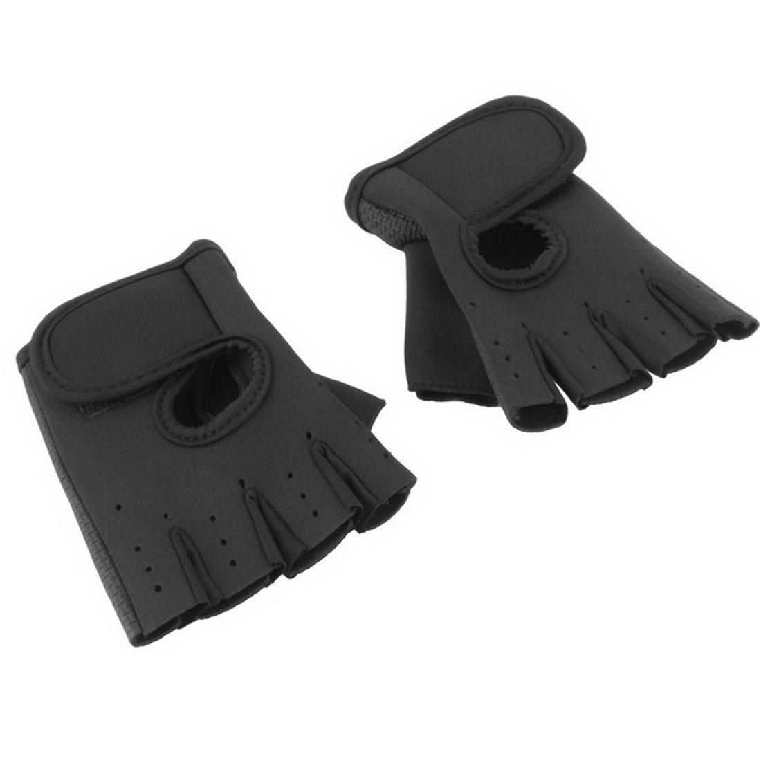 1Pair Sports Gloves Fitness Exercise Training Gym Gloves-Black M Luwu-Store