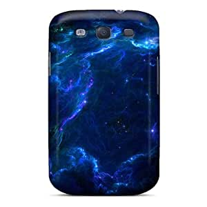 Sanp On Cases Covers Protector For Galaxy S3 (wood Full Space Stars Blue Nebulae Lazarus)