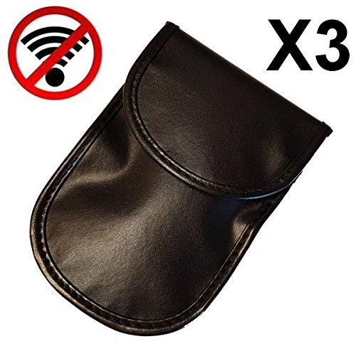 Diebstahlschutz 3 St/ück Faraday Autoschl/üsseltaschen mit Signalsperre